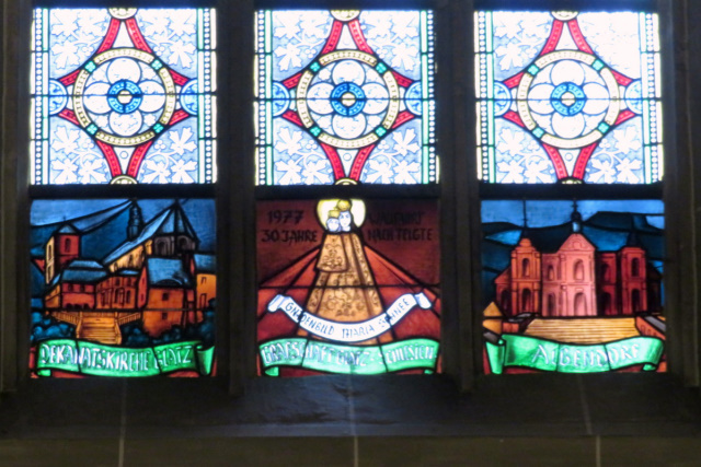 Grafschaft Glatzer Kirchenfenster in der Wallfahrtskirche in Telgte